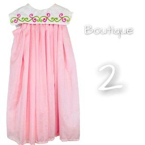 Boutique Girls Square Collar Embroidered Dress 2